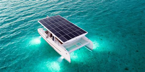catamaran boat video solar electric catamaran launches in bora bora video