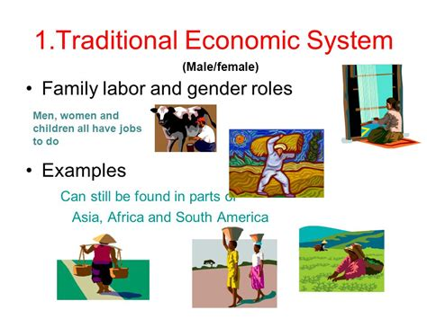 Labor And The Economy economic systems 1 traditional economic system ppt