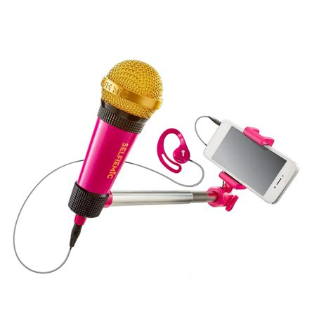 16cm Mini Selfie Stick Pink selfiemic selfie stick microphone pink new ebay