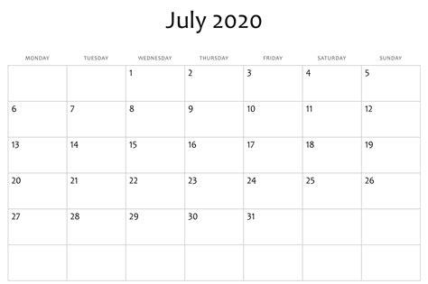 july  calendar word  printable calendar templates july calendar printable calendar