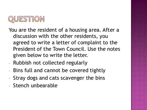 How To Write Complaint Letter To Council About Rubbish A Letter Of Complaint 2012
