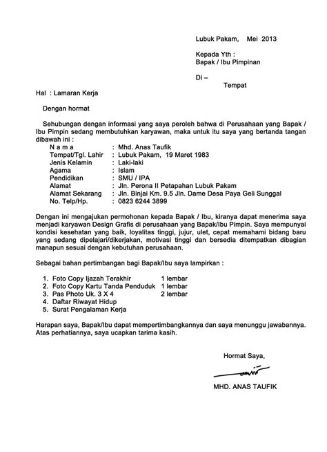 kumpulan contoh surat lamaran kerja ben contoh lamaran kerja