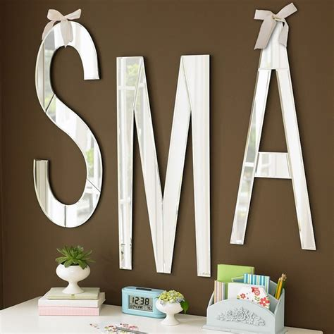 mirrored wall letters modern wall letters by pbteen - Mirrored Letters Wall Decor