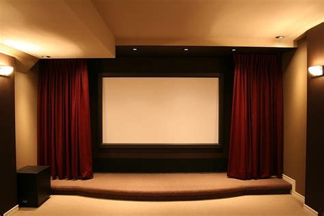 recessed curtains  protect screen home theater home
