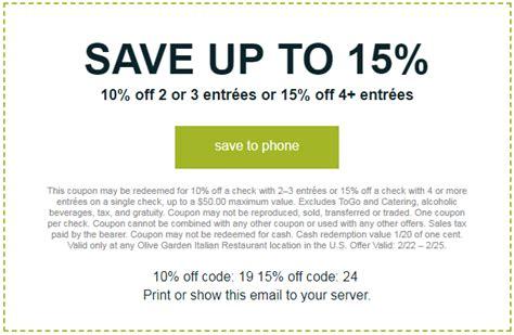 olive garden promo code 3 olive garden coupons promo codes dec 2018