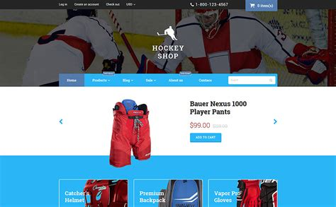 themes for hockey games hockey shopify theme
