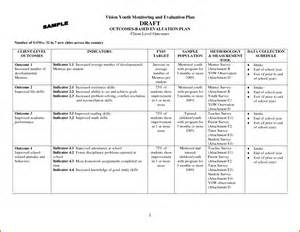 and evaluation outline template 14 evaluation plan template plantemplate info