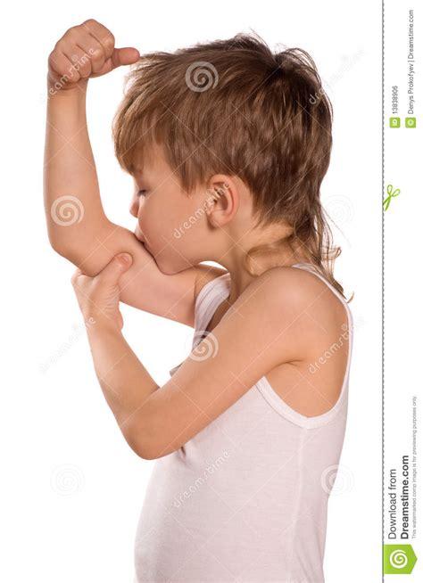 little boy flexing bicep little boy flexing biceps royalty free stock image image