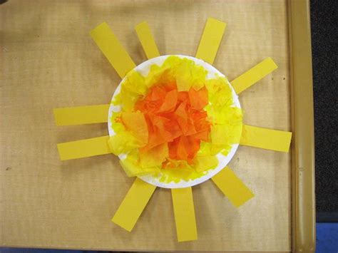 sun paper plate craft paper plate sun craft for