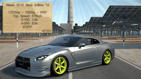 nissan gtr stats gt6 nissan gt r black edition 12 stats by gt4tube on