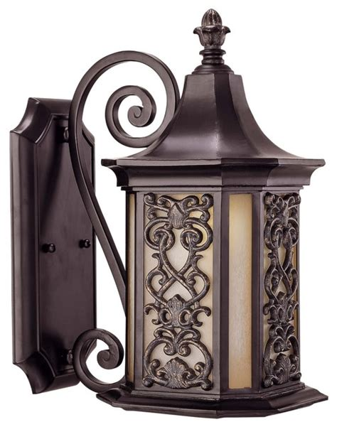 Mediterranean Outdoor Lighting Forsyth Wall Mount Lantern Mediterranean Outdoor Wall Lights And Sconces New York By