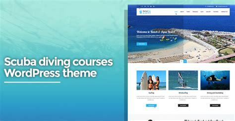 wordpress themes for computer institute scuba diving courses wordpress theme for diving skt themes