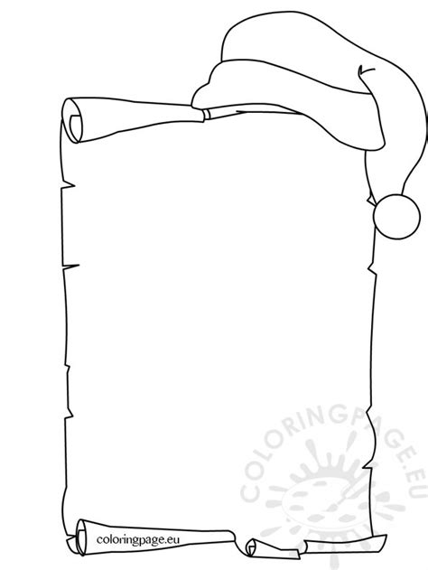 Santa Claus Wish List Coloring Page List Coloring Page