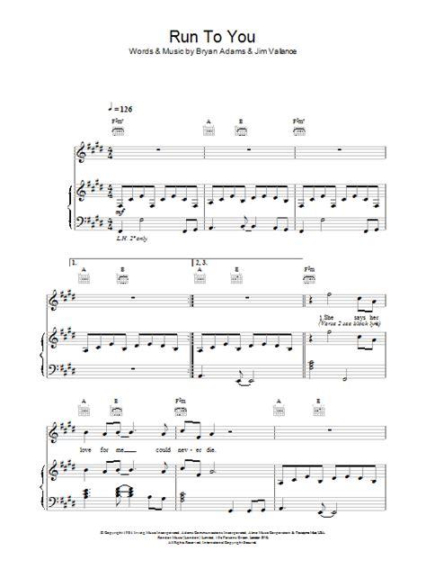 Run To You Guitar Chords
