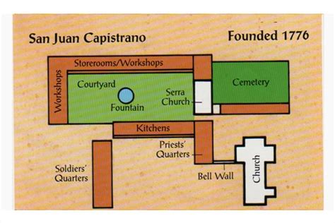 mission san juan capistrano floor plan the 22nd california mission martin s marvels