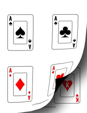 deck of cards template c this printable card deck has 52 standard cards