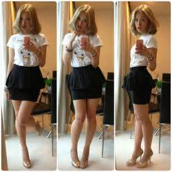 Ootd printed t with peplum skirt zara peplum aldo heels shoes