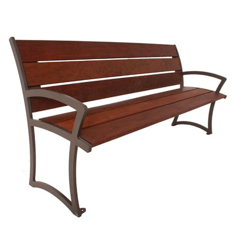 ipe wood bench ultraplay madison ipe wood outdoor bench with back 4 l