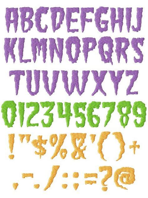 printable scary fonts 10 spooky number fonts images free scary font scary