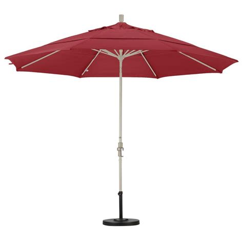 California Umbrella 11 ft. Fiberglass Collar Tilt Double