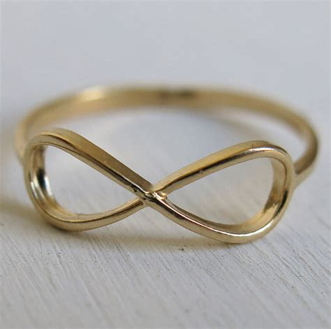 gold ring infinity ring thin ring gold filled ring by