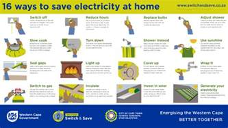 how to save energy at home be energy smart western cape government
