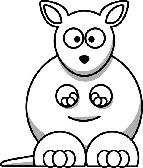 cartoon kangaroo coloring pages kangaroo clip art for kids clipart panda free clipart