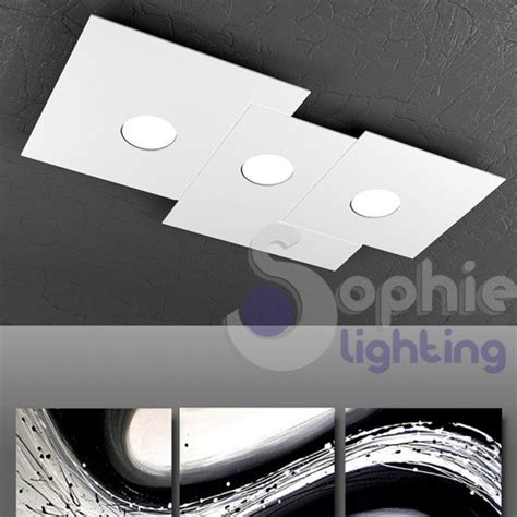 plafoniera led soffitto plafoniera soffitto 3 led 27w design bianco