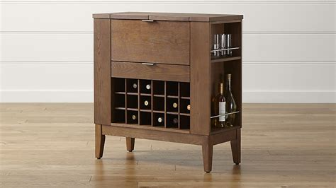 spirits bourbon cabinet crate and barrel
