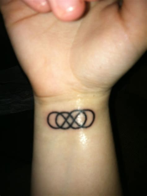 infinity symbol tattoo on wrist
