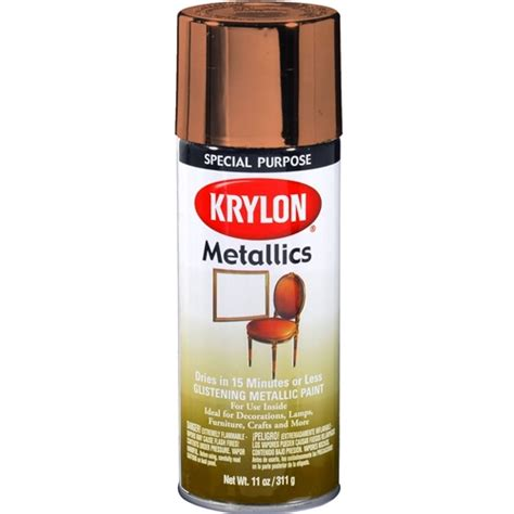 spray paint plastic metallic krylon 2203 copper metallic spray paint