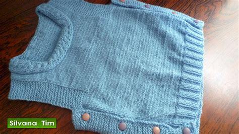 pin chalecos tejidos para bebes ninos palillo crochet chaleco para bebes o ni 241 os tejido con dos agujas 335