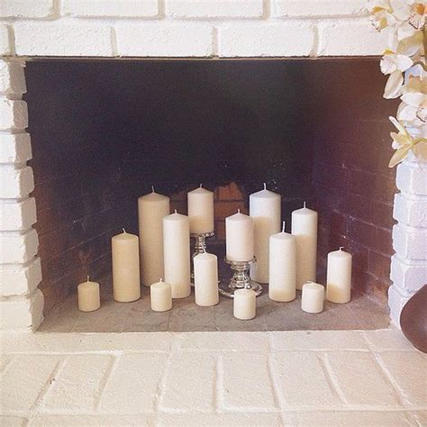 Candle Fireplace Logs by Best 25 Candle Fireplace Ideas On Fireplace