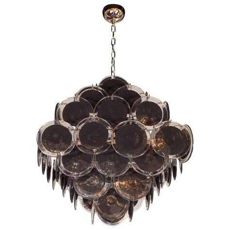 Black Glass Chandelier Ultra Chic Modernist Shaped Black Murano Glass Chandelier By Vistosi For Sale At 1stdibs