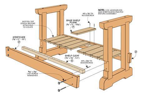 sturdy work bench woodsmith plans