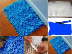diy eco bath rug from t shirts