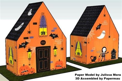 How To Make A Paper Haunted House - papermau special haunted house treat box