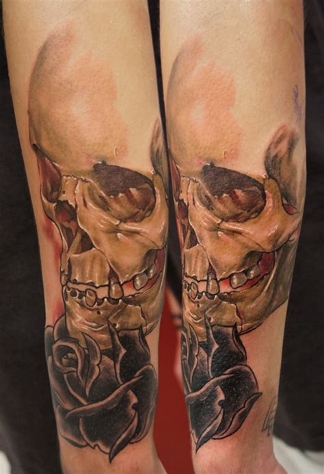 tattoo mba mp3 colour skull rose in progress by bhbettie on deviantart
