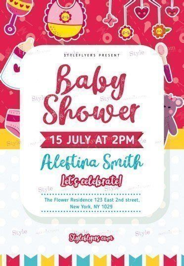 template baby shower psd baby shower psd flyer template 20522 styleflyers
