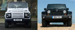 Range Rover Vs Jeep Jeep Wrangler Vs Land Rover Defender Review Reveals Some