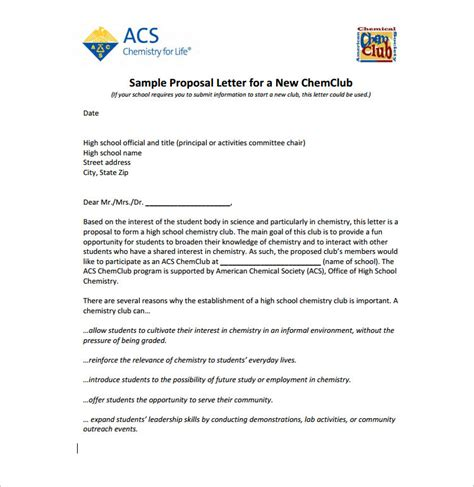 14 proposal letter templates free word pdf doc formats