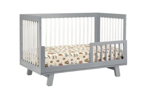 Baby Crib Adjustable Side Rail by Babyletto Hudson 3 In 1 Convertible Crib With Toddler Rail
