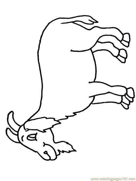 free coloring pages goats coloring pages color goat2 animals gt goat free