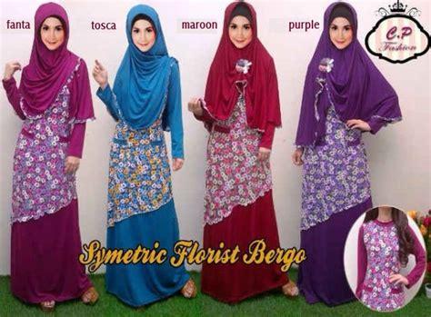Gamis Muslim Anak Set Bergo gamis syari set bergo florist koleksi baju muslim motif