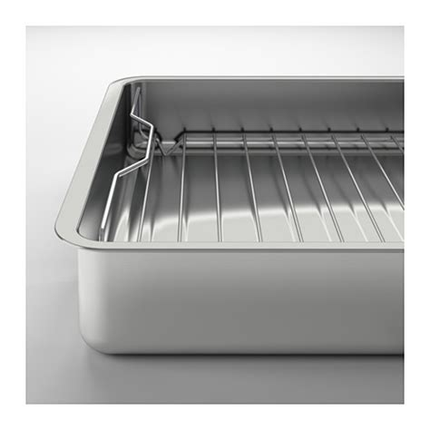 Ikea Koncis Loyang 26x20cm Stainless koncis roasting tin with grill rack stainless steel 40x32 cm ikea