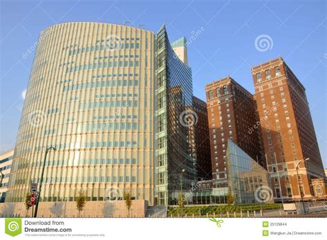 modern buildings in downtown buffalo stock photo image