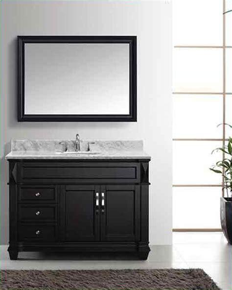 Rounded Bathroom Vanity Virtu Usa 48 Quot Sink Bathroom Vanity Set Vu Ms 2648 Wmro Es