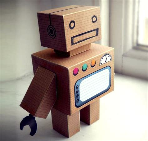 How To Make A Simple Robot With Paper - papermau build your own cardboard robot paper by