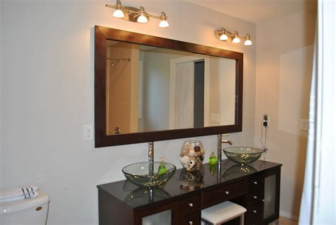 bathrooms with mirrors diy bathroom mirror frame ideas images