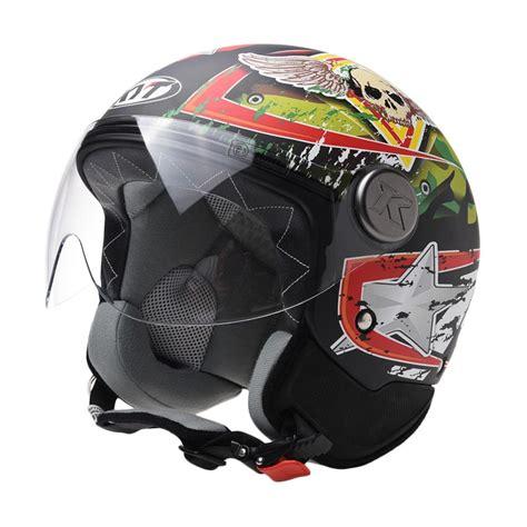 Helm Kyt Voodoo Jual Kyt Voodoo Skull Helm Half Harga